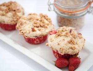 Strawberry and Cream Muffins gluten-free