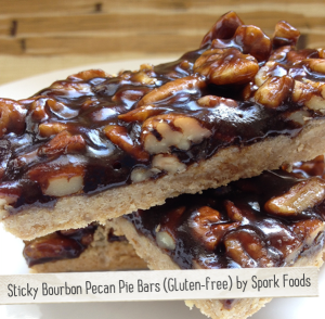 Sticky Bourbon Pecan Pie Bars